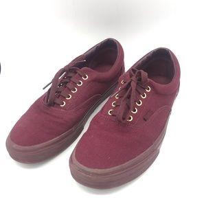 Men's Vans Burgandy sneakers size 11